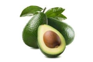 3 avocado cut half seed leaves
