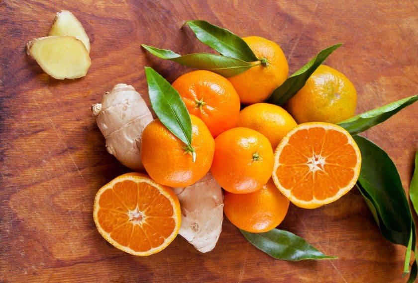 mandarin, ginger, and vetiver
